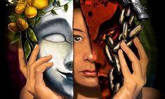 The Good and Evil in Me by ~KerovinBlack on deviantART Monica Torres, Evil Mask, Les Fables, Book Of Proverbs, Proverbs 14, The Evil Within, Good And Evil, Emotional Healing, Art Plastique