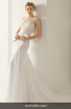 Rosa Clara 'Volga' Beaded Tulle Trumpet Dress (In Stores Only) available at #Nordstrom $2,312.50