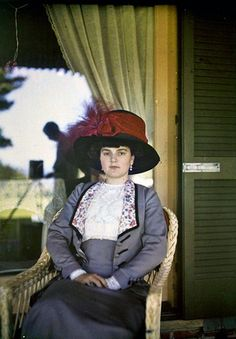 Rare authentic autochrome photograph from ca. 1910.