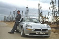1999 BMW Z8 in The World World Is Not Enough.  This car was split in half in the movie.
