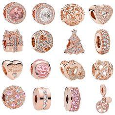 88585cf8732391 Il trasporto libero 1 pz oro rosa cuore albero genealogico spacer bead clip  fascini Misura Europea