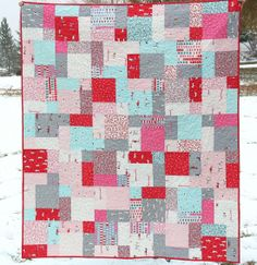 i have a layer cake of Little Apples that's destined to turn into this quilt! - I did it!  This is our official picnic blanket!