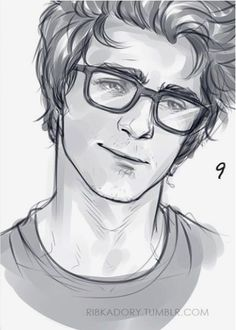 Image result for how to draw glasses on a man