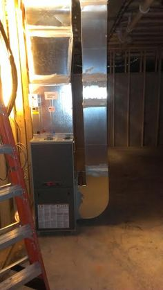 New Construction Trane furnace installation