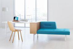 Büro und Wohnzimmer verschmelzen mit ophelis docks Design Möbeln