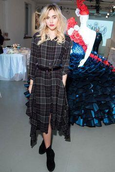 Suki Waterhouse wearing Public School NYC Alice Dress.