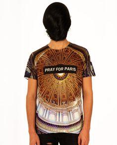 Pray for Paris ceiling t-shirt