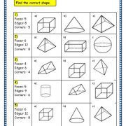 Grade 3 Maths Worksheets: Geometry: (plane figures) and (solid figures) Shapes). These worksheets assists kids in improving their maths skills. Shapes Worksheet Kindergarten, 3rd Grade Math Worksheets, Geometry Worksheets, Shapes Worksheets, Printable Worksheets, Plane Figures, 3d Figures, Adverbs Worksheet, Math Exercises