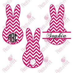 Chevron #Easter #Bunny #Svg Cut Files for Cricut, Silhouette and other Cutting machines.