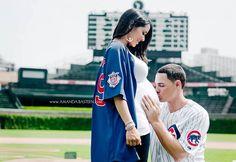 Chicago Cubs Maternity Photography | Baseball Maternity Photos