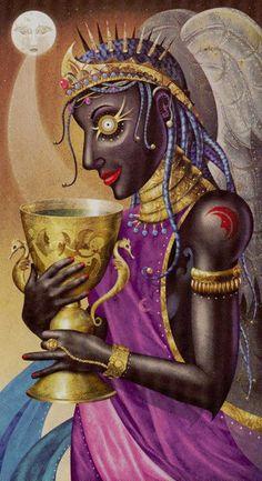 Queen of Cups - Deviant Moon Tarot