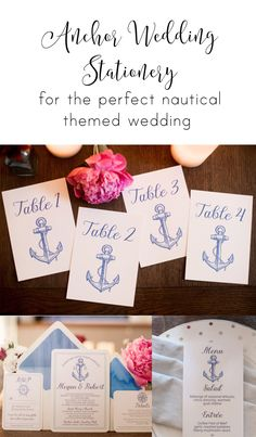 Affordable Nautical Wedding Stationery by Pineapple Street Designs