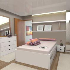 cama de casal em mdf