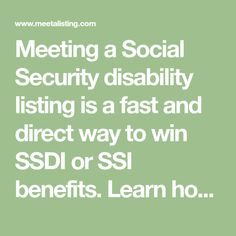 Blueprint binding strips 100pk organization pinterest meeting a social security disability listing is a fast and direct way to win ssdi or malvernweather Image collections