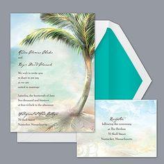 Palm Tree Beach - Invitation