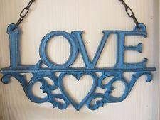 Cast Iron Love Plaque, Home decor, Sign