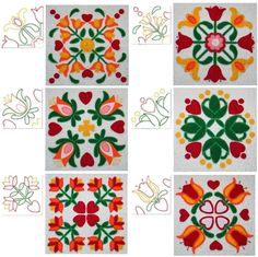 New Embroidery Designs Free Applique Patterns Quilt Blocks Ideas Flower Applique Patterns, Applique Design, Quilt Block Patterns, Pattern Blocks, Quilt Blocks, Machine Quilting Designs, Quilting Projects, Advanced Embroidery, Embroidery Designs