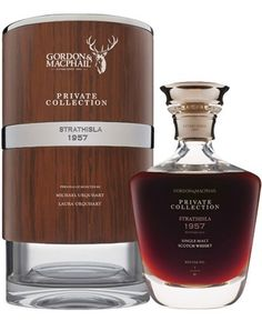This Strathisla from Gordon & MacPhail is  57 Years Old.  It was distilled in 1957 and bottled in 2014 from an ex-Sherry Hogshead which produced 61 bottles.  It is the oldest Strathisla ever released.  It was selected from the G&M warehouses by current Managing Director Michael Urquhart and his daughter Laura Urquhart, Gordon & MacPhail Brand Manager. Retail Price- Pounds Sterling 6,250.00 includes VAT.