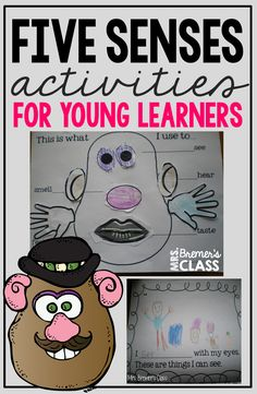 Superstars Which Are Helping Individuals Overseas Five Senses Learning Ideas And Fun Activities With Resources For Teaching The 5 Senses In Kindergarten-Love The Potato Head Craftivity 5 Senses Activities, 1st Grade Activities, Morning Activities, Kindergarten Math Activities, Kindergarten Science Experiments, Teaching Science, Science Activities, Teaching Ideas, Five Senses Worksheet