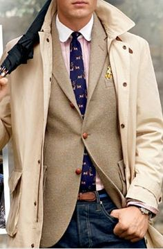 Preppy Layers, Men's Fall Winter Fashion.