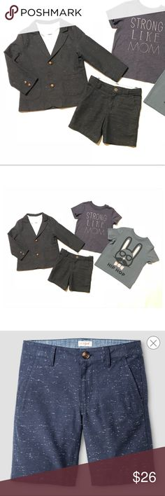 Cat & Jack Boys 2 Piece Shorts Suit 2T. Like new condition. Worn 2X. Textured navy. Shirts are not included. Cat & Jack Matching Sets