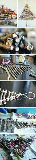 Alberelli fatti coi legnetti