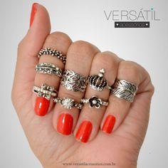 http://www.versatilacessorios.com.br/ #anelismo #anel #mixdeanéis #aneldefalange #bijouxonline