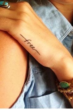 Hot quote tattoo for girls #tattoo #hand #words www.loveitsomuch.com