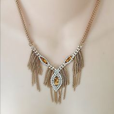 NWT Tinley Road Piperlime fringe necklace Gorgeous! Rhinestone eyes Tinley Road Jewelry Necklaces