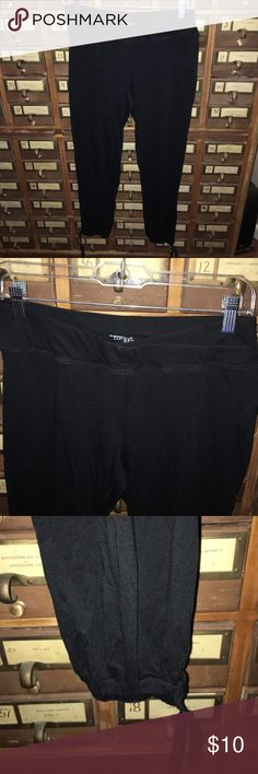 Comfy pants Cute layered waistband design, genie like ankles with drawstrings. New York & Company Comfort Zone. Nice used condition New York & Company Pants