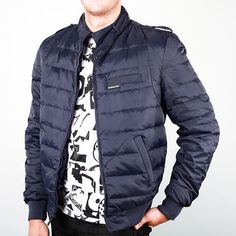 Members Only: Slim Down Racer Jacket Navy, at 51% off!