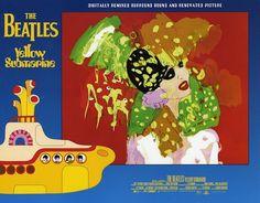 Beautiful International Lobby Cards for The Beatles' Yellow Submarine