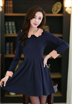 Style:Cute Dresses Length:Above Knee, Mini Fabric Type:Chiffon Material:Silk,Cotton,Polyester Material:Chiffon Color:Dark Blue,Pink Pattern:Slim Fit