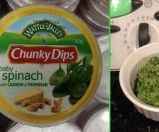 Spinach cashew and Parmesan dip