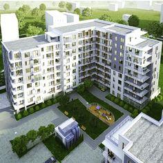 I etap inwestycji Przy Woronicza w całej okazałości #wizualizacja #home #mieszkanie #osiedle #placzabaw