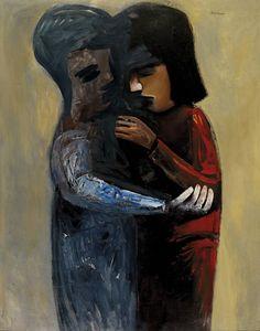 Two Women, 1961 - Charles Blackman Australian Painting, Australian Artists, Alice In Wonderland Series, Arthur Boyd, Picasso And Braque, Henry Thomas, Modern Artists, Figure Painting, Love Art
