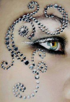 Makeup: Rhinestone #makeup.