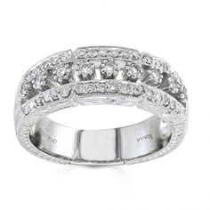 BF1334 - #23548  18 k, white diamond band 0.41 ct. rounds (Please call for pricing)