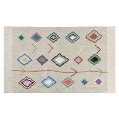 Quel magnifique tapis ! Il sera parfait dans la chambre de votre enfant ! Son grand format occupera l'espace et créera une ambiance chaleureuse dans la pièce. Il apportera de la luminosité et de la couleur, et il participera ainsi à la décoration de la chambre. Des formes géométriques en losanges, des couleurs intenses et originales viennent illustrer ce grand tapis 100% coton. Tout doux, cosy et moelleux, il saura réchauffer les pieds de votre bout de chou au réveil ! On aime aussi les ...