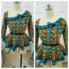 Check Out Peplum Ankara Tops Styles You Would Love.Check Out Peplum Ankara Tops Styles You Would Love African Inspired Fashion, Latest African Fashion Dresses, African Dresses For Women, African Print Dresses, African Print Fashion, Africa Fashion, African Attire, African Wear, African Women