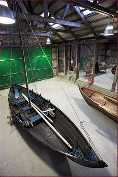 """A close-up of """"The Maggie"""", a Ness Yoal, in the Boat Shed - © Mark Sinclair / Phatsheep Photography"""