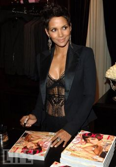 Halle Berry...pretty lady with an even more prettier heart.  She's beyond talented.