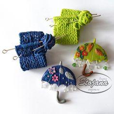 Оригинальные подарки-броши для любителей вязать и ходить с зонтиками ☔️ ☂ от Stojana Creative. #FIMOtv, #FIMO, #HandMade, #ПолимернаяГлина, #Творчество, #Вдохновение, #Лепка, #PolymerClay, #СвоимиРуками, #Аксессуар, #Фимо, #ХэндМэд, #Украшения, #Брошь, #Брошка, #Вязание, #Оригинальный, #Подарок, #Пластика, #hobby, #art, #craft