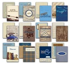 Authentique Paper - Rugged Life Cards 36/Pkg 3x4