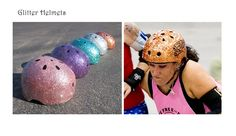 Instructions on how to make your own glitter helmet Jenaration Creations Artwork by Jena Cotreau; Portfolio