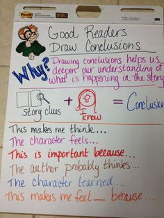 draw conclusions anchor chart - Google Search