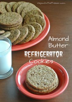 Almond Butter Refrigerator Cookies are an easy cookie to make and you can have the cookie dough in the refrigerator or freezer to be cooked at your will.