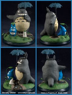 My Neighbor Totoro by *emilySculpts on deviantART