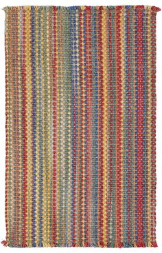 $5 Off when you share! Capel Nags Head 0404 Bright Multi Rug | Solid & Striped Rugs #RugsUSA