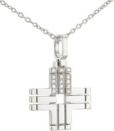 India Hicks Silver Love Letters Necklace with Diamonds - I - Oprah's Favorite Things on shopstyle.com